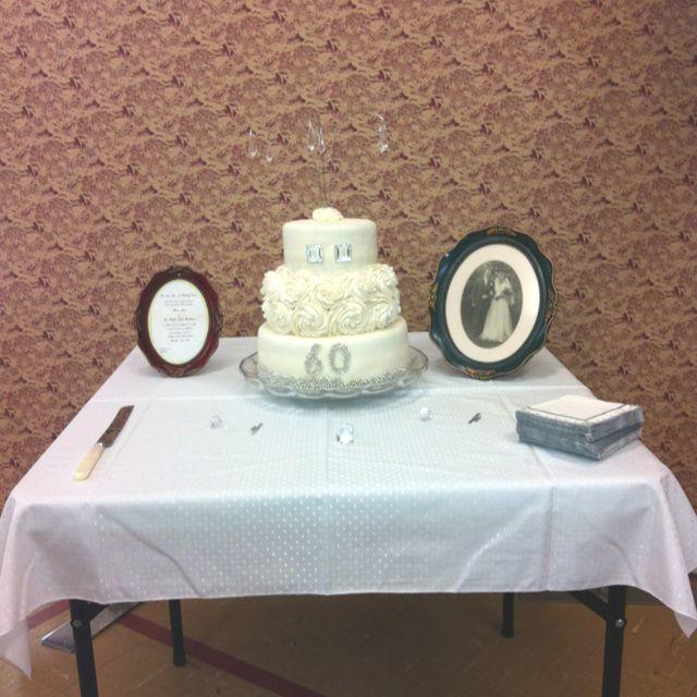 Diamond Wedding Anniversary Gifts For Grandparents: 60th Wedding Anniversary Cake I Made For My Grandparents