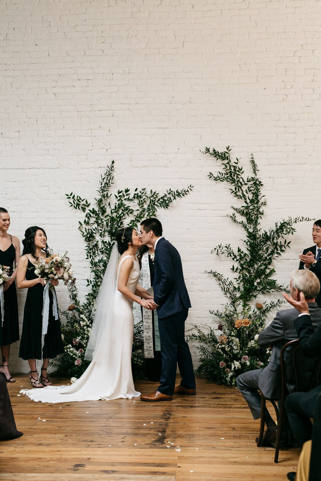 Modern Industrial Wedding At One Eleven East Austin Tx Photo Credit Marisa Albrecht Photo Wed Marisa Wedding Dress Industrial Wedding Proper Wedding