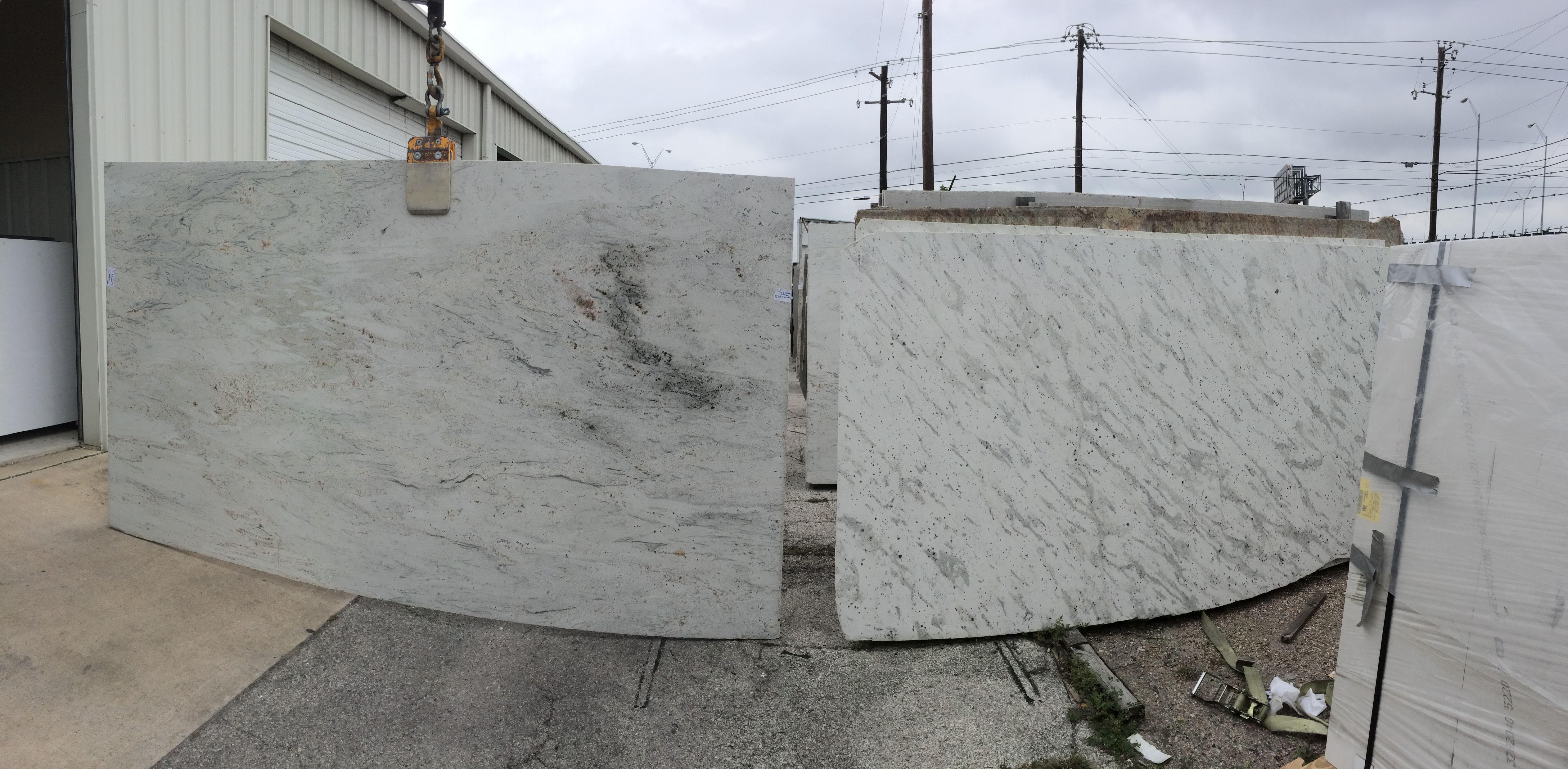 on the left is river white slab of granite on the right is andromeda white both have ruby. Black Bedroom Furniture Sets. Home Design Ideas