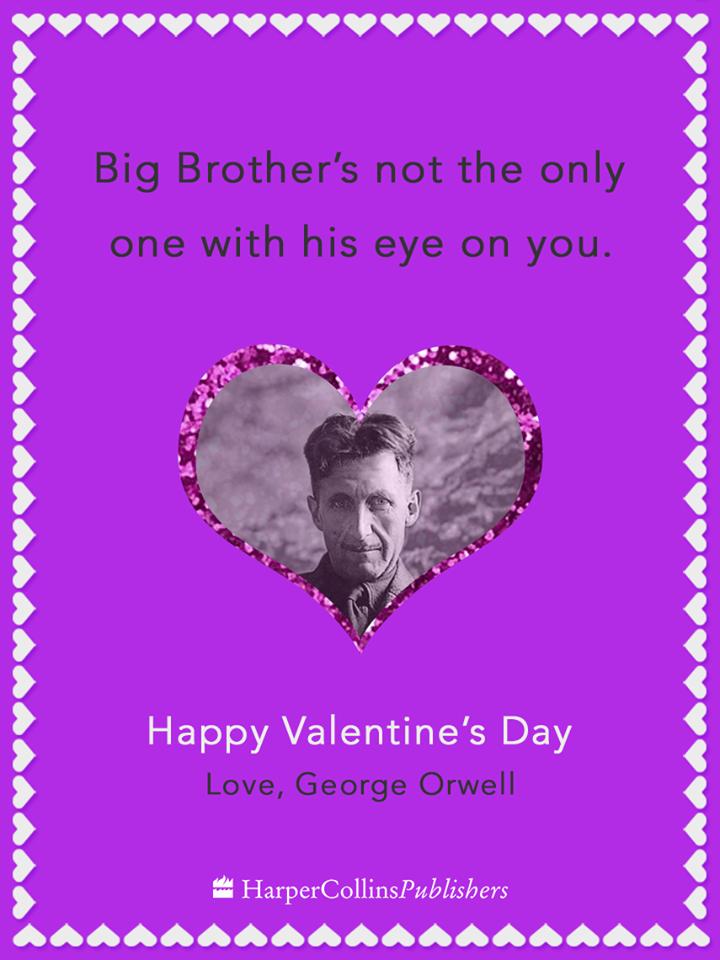 If Orwell Wrote Valentine S Cards Sent Valentine Valentines My Funny Valentine