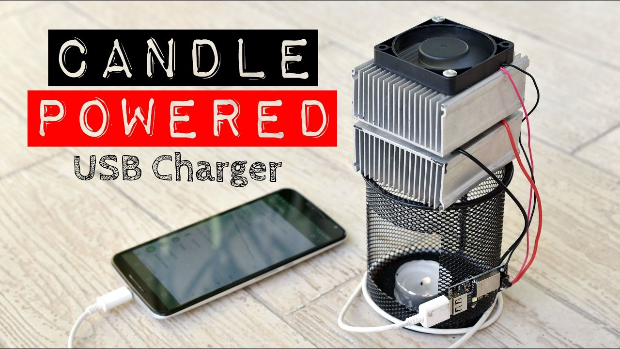 Diy Video Candle Powered Usb Charger Lamp Candle Power