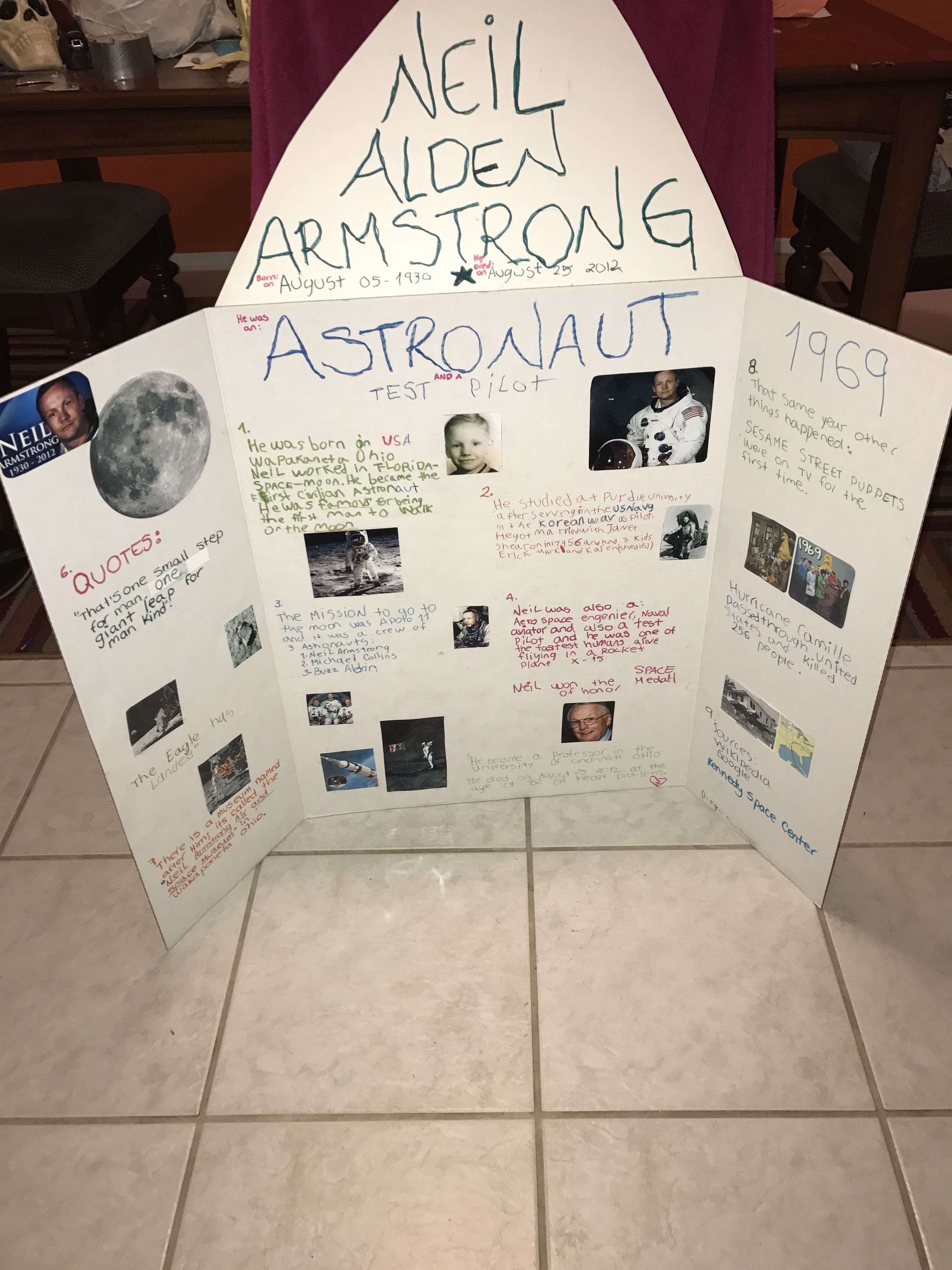 Neil Armstrong Poster School Project
