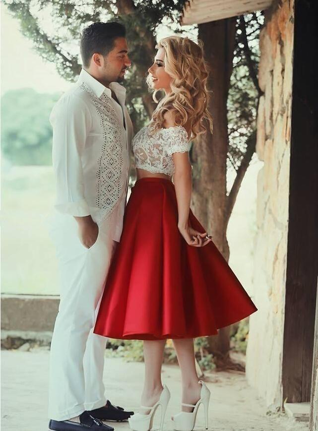 253056ee36e1 US$128.73-Two Piece Lace Bodice A Line Prom Dress. www.junebridals.... Shop  for cheap prom dresses, white dress, plus size dress, little balck dress,  ...
