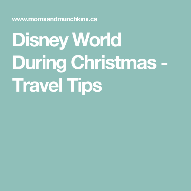 Disney World During Christmas - Travel Tips
