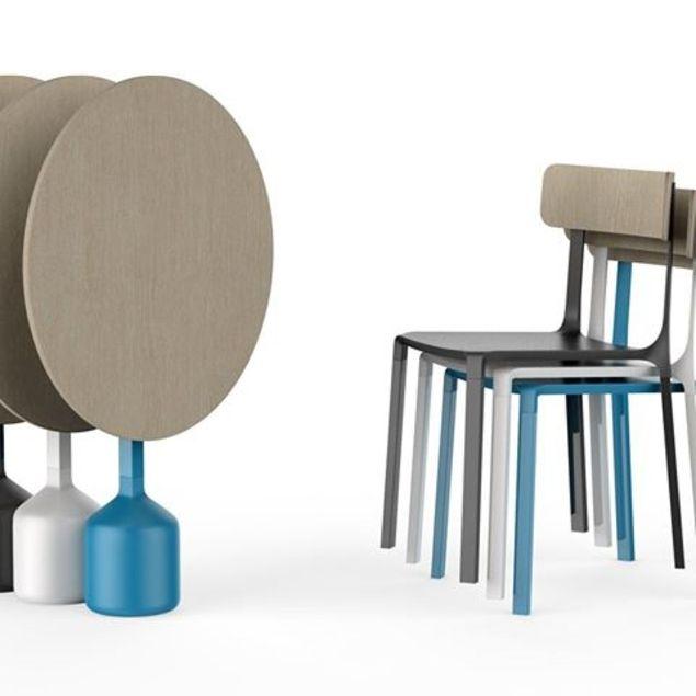 Sledge Chaise De Restaurant Design Aluminium Bois Sledge Mobilier Mobilier Design Table Basse