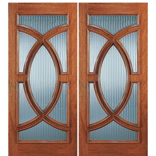 Aaw Doors Inc 695 B 2 Double Door Mahogany Traditional With Unique Glasswork At Doors4home Modern Entry Door Entry Doors Wood Entry Doors