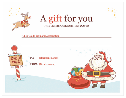 Christmas Certificates Templates For Word Christmas Gift Certificate Template  Christmas  Pinterest  Gift .