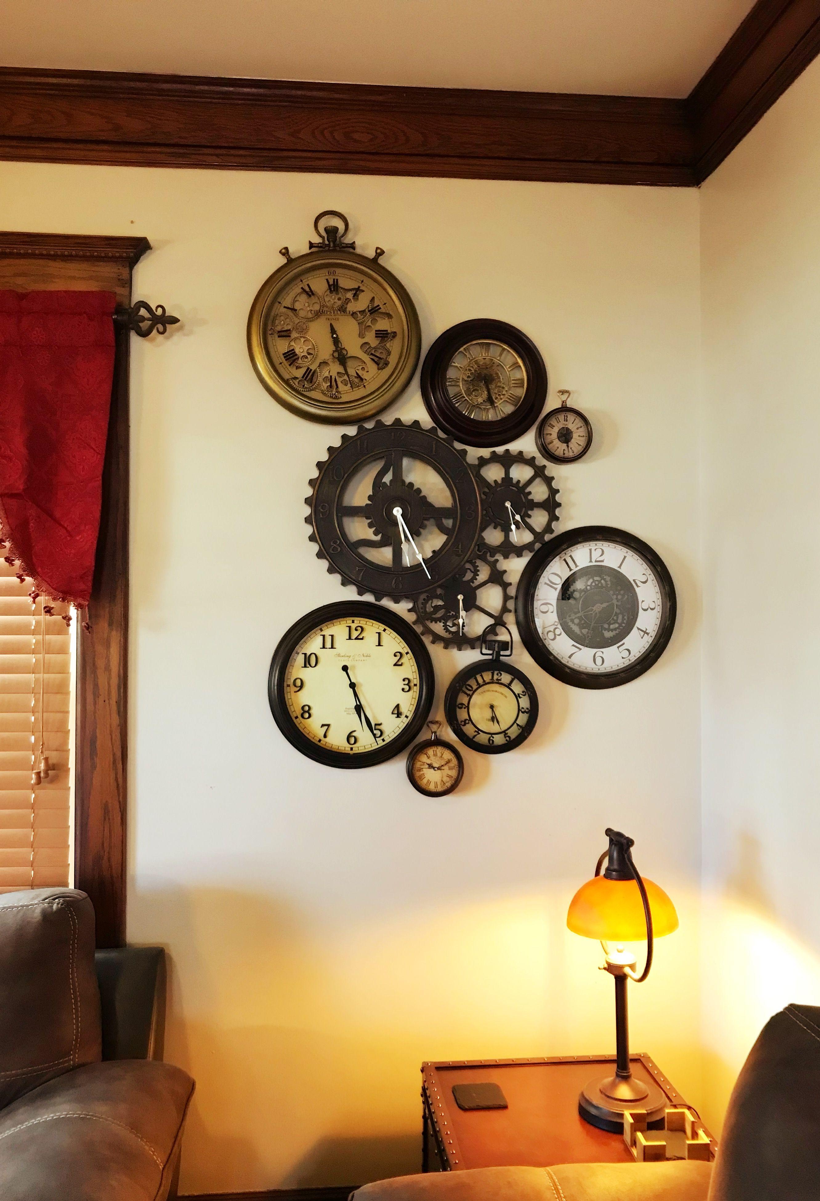 Clocks Clock Decor Steampunk Decor Steampunk Interior Wall