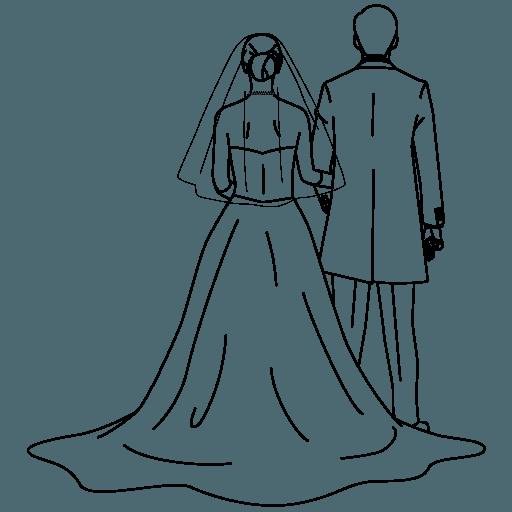 花嫁と花婿 新郎新婦 の無料イラスト素材 Linustock ライナストック 結婚式のイラスト 結婚式 ウェルカムボード イラスト 無料 イラスト