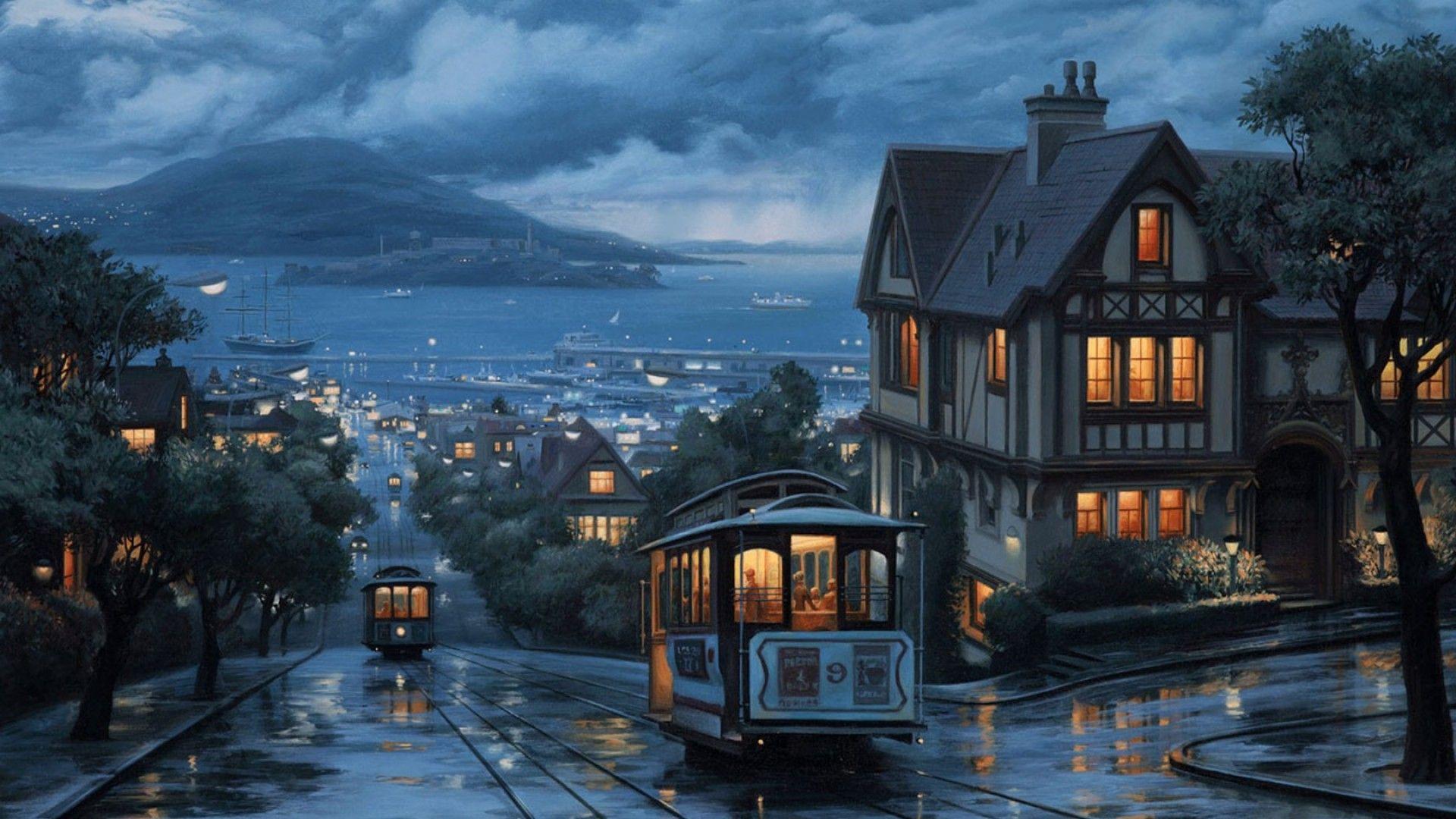 Tranvías De San Francisco Paisajes Lugares Hermosos Lugares Increibles