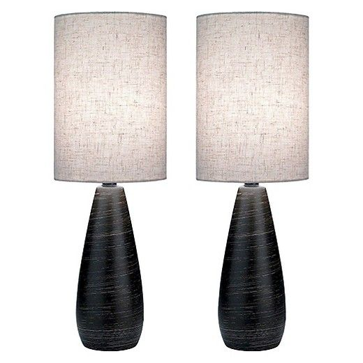 Lite source quatro ii 2 light table lamp brushed dark bronze pack of 2