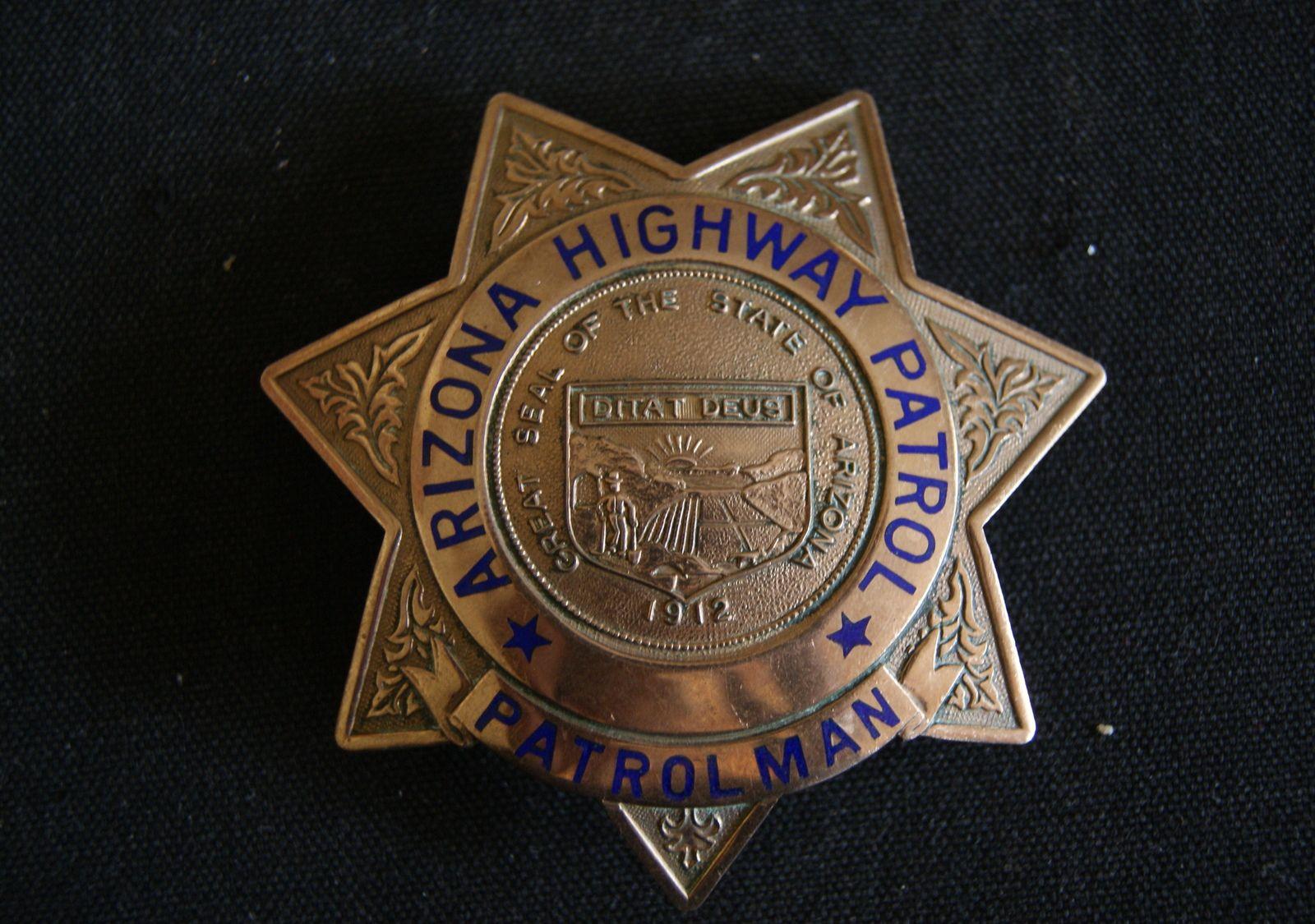 Arizona Highway Patrol Badge 1950's , 7 Point Star Badge