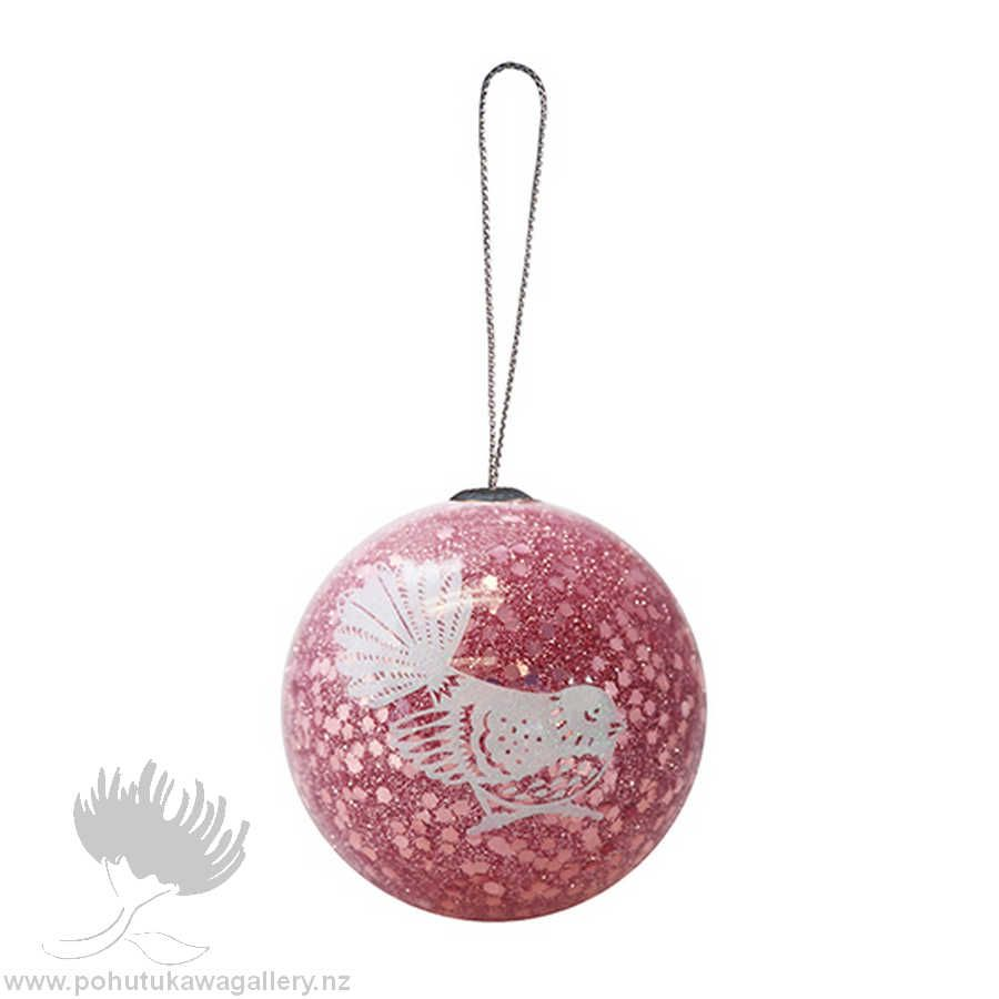 New Zealand Xmas Ball Decoration Glitter Fantail Ball Decorations Nz Gift Christmas Decorations