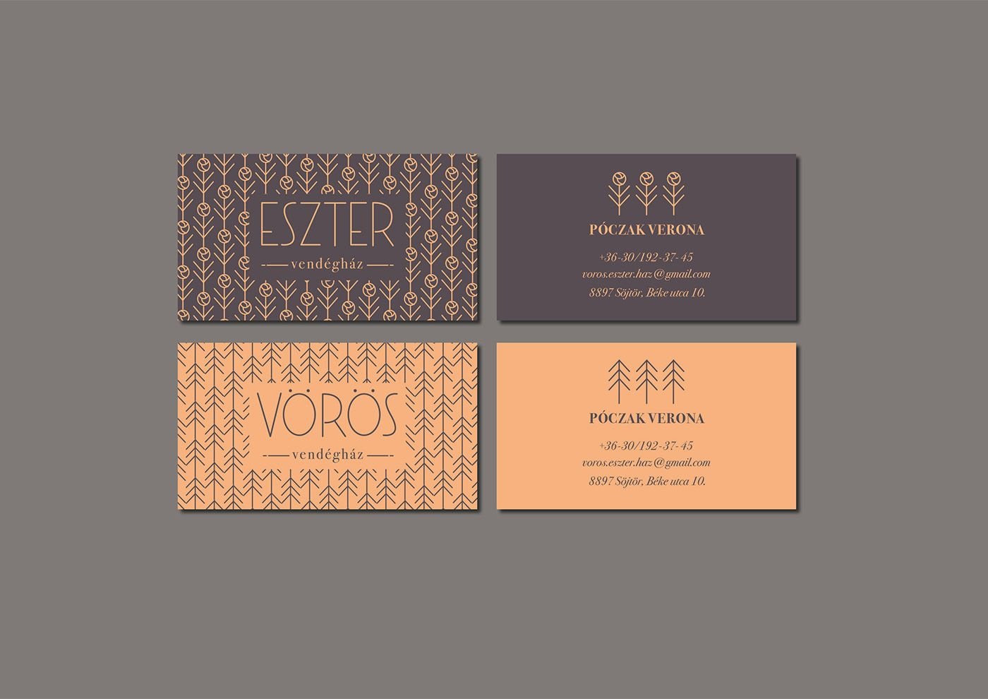 This is an identity design for a village guesthouse, which contains ...