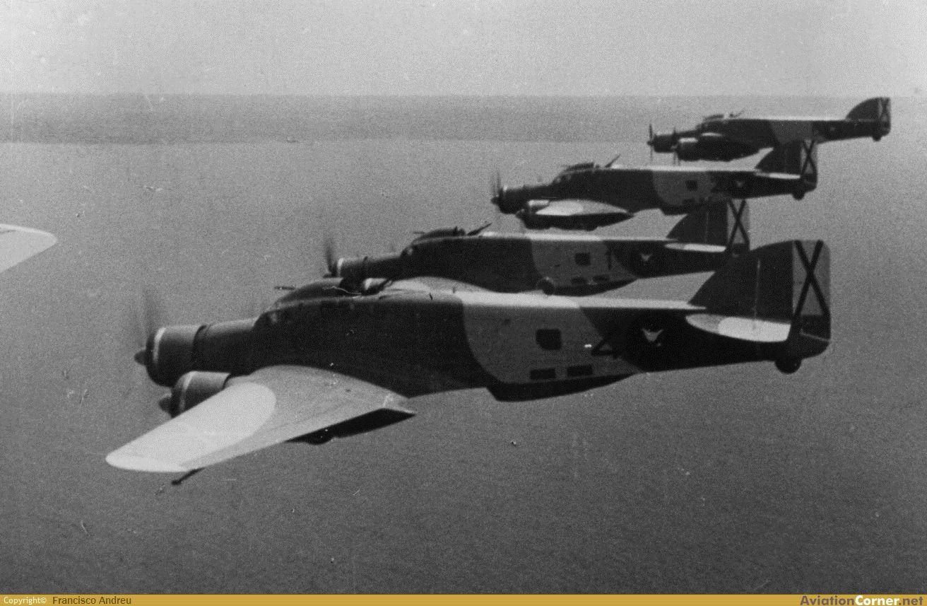 Saboia Marchetti SM-79. Guerra Civil española.
