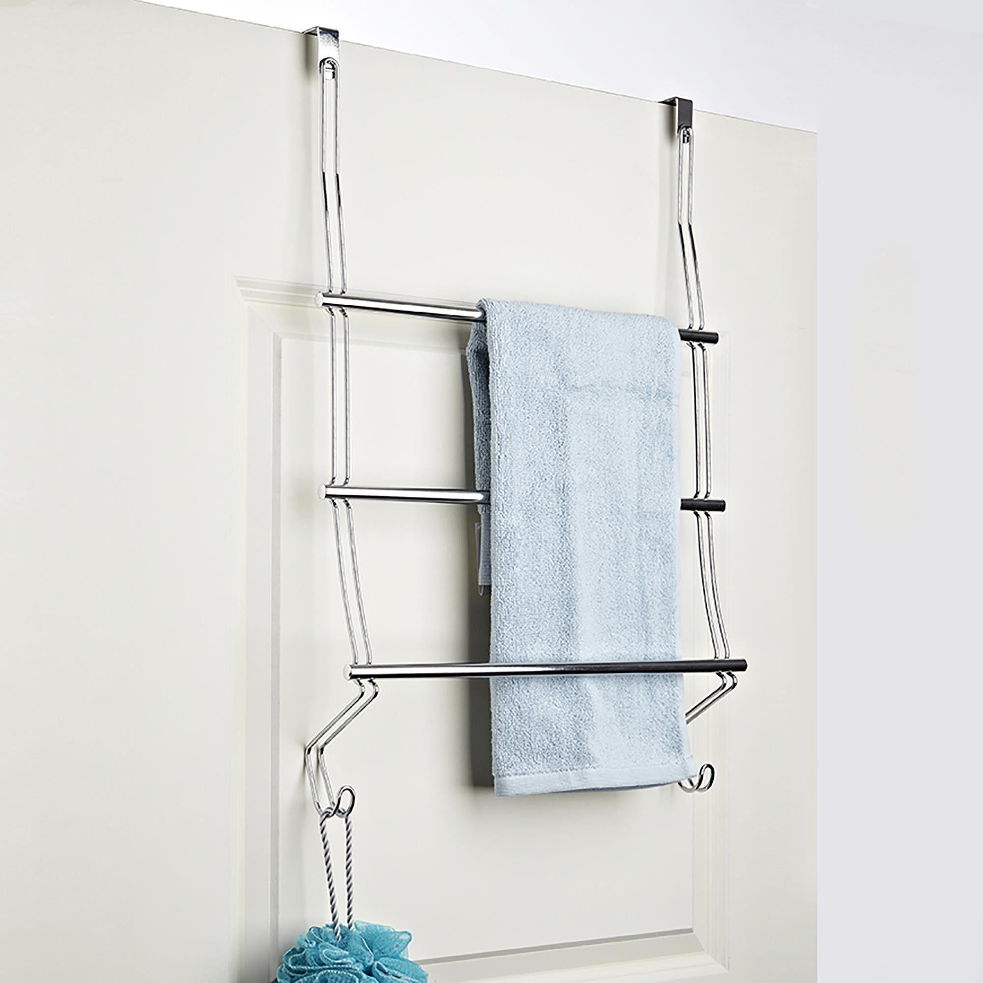 Interdesign Classico Over Shower Door Towel Rack Over Door Towel Rack Towel Rack Shower Doors