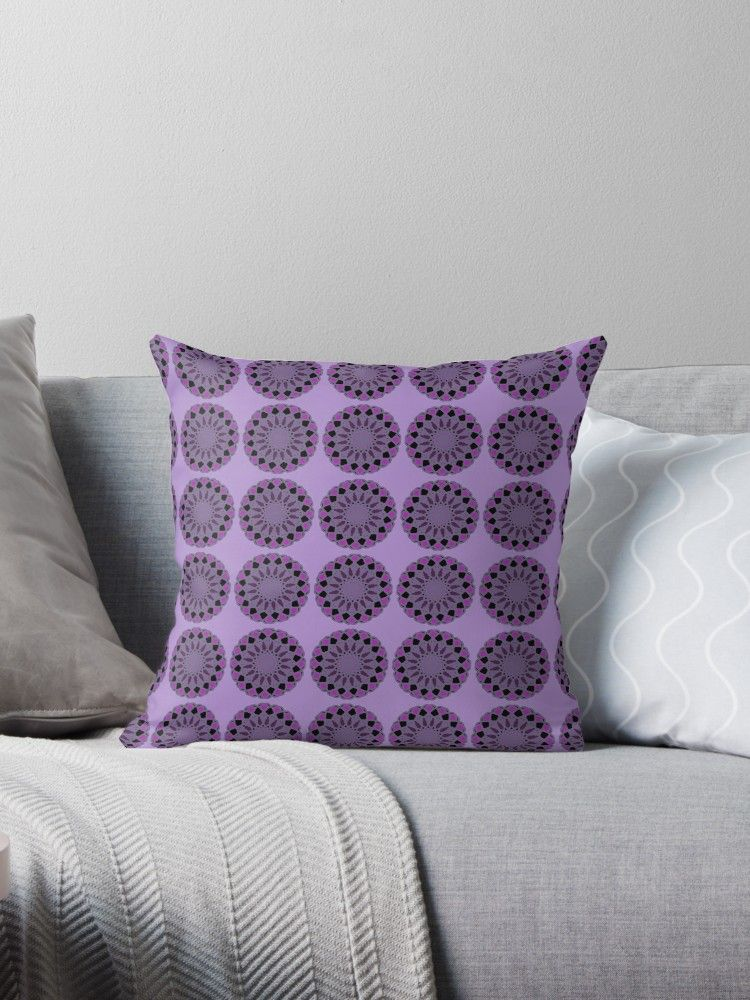 Black Purple And Grey Pattern Design Throw Pillow By Bdmct Throw Pillows Pattern Design Grey Pattern