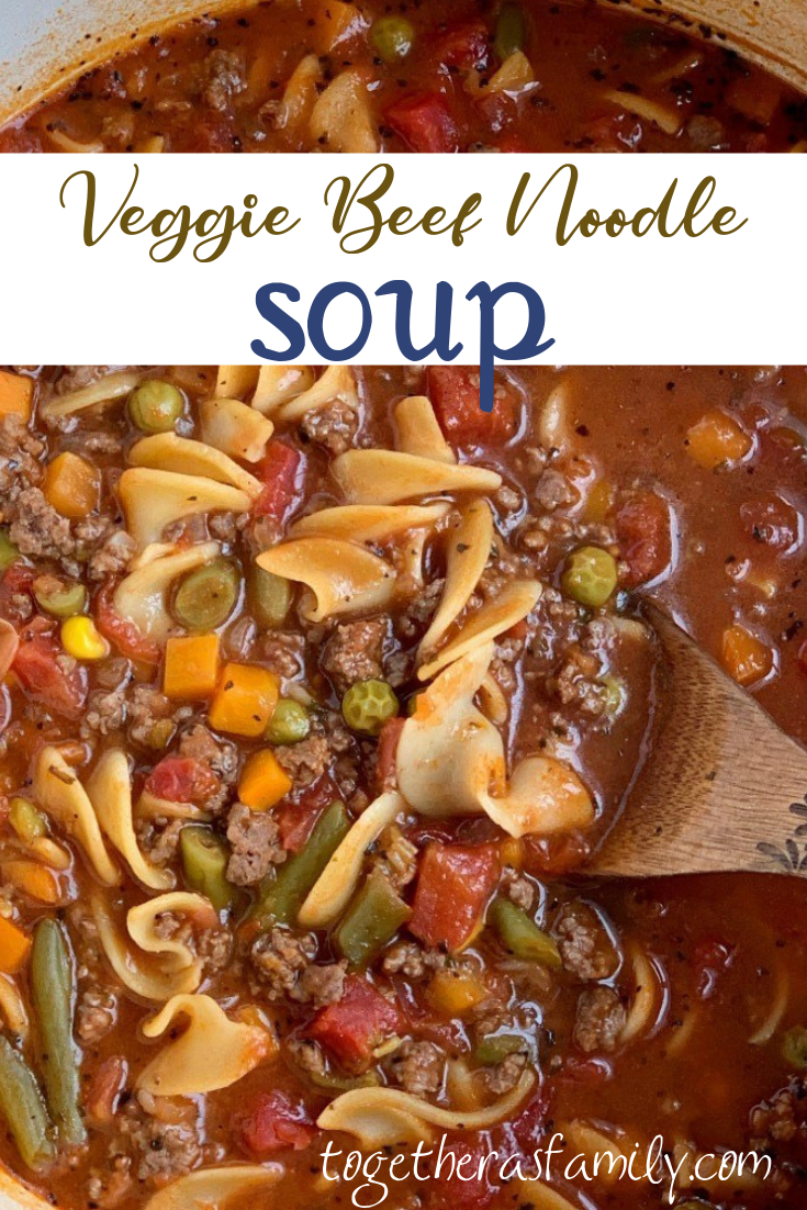Vegetable Beef Soup Is So Easy To Make With Convenient Ingredients Ground Beef Stewed To Beef Noodle Soup Crockpot Recipes Beef Stew Vegetable Soup Crock Pot