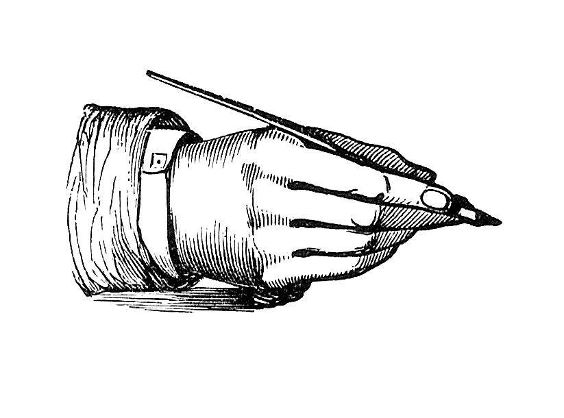 Antique Images Black And White Illustration 4 Clip Art Of Hand Holding Vintage Pen Clip Art Vintage Black And White Illustration Vintage Pens