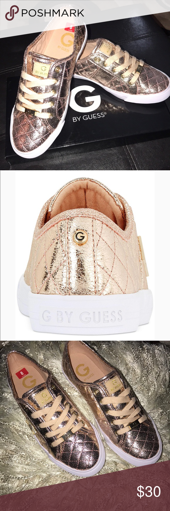 4ac90a48793 G By Guess Rose Gold Metallic Sneaker New in Box