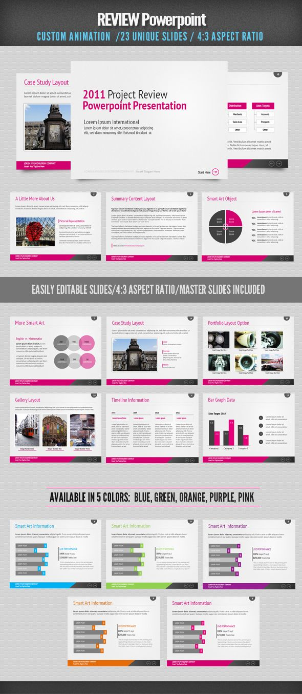 Review Powerpoint By Design District Via Behance Business