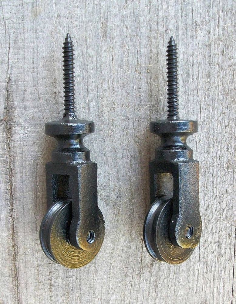 2 Cast Iron Vtg Style Screw In Ceiling Pulley-Mason Jar Swag Pendant Lamp Light #IndustrialVintageStyle #CTW