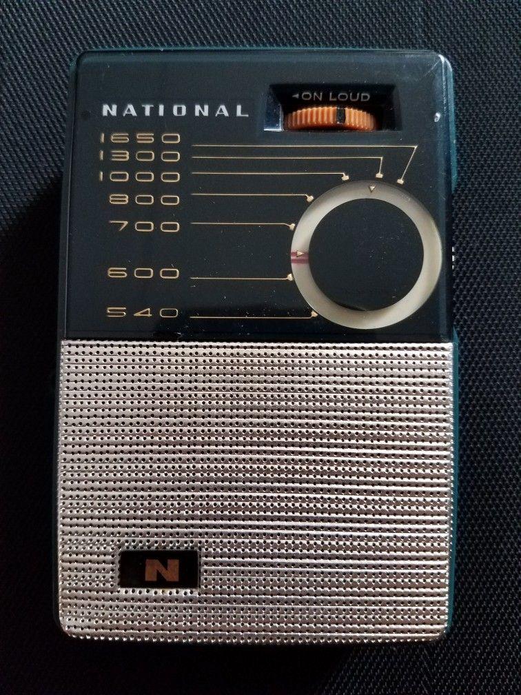 National Am Portable Radio National Panasonic Vintage Radio Pocket Radio Old Radios