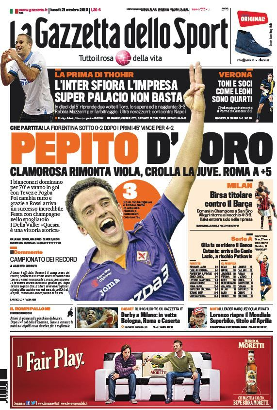 La Gazzetta dello Sport (21-10-13)Italian | True PDF | 48 31 pages | 18,01 8,73 Mb