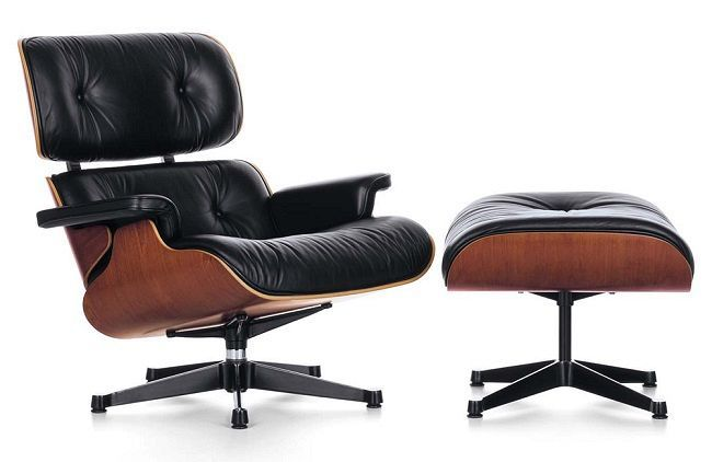 Eames lounge chair and ottoman by herman miller cw poltrone in