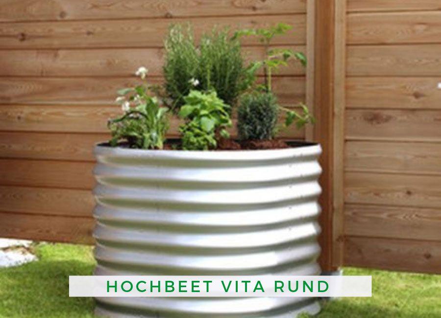 Hochbeet Vita Rund 630 Blank Hochbeet Hochbeet Bauen Und Gartenarbeit