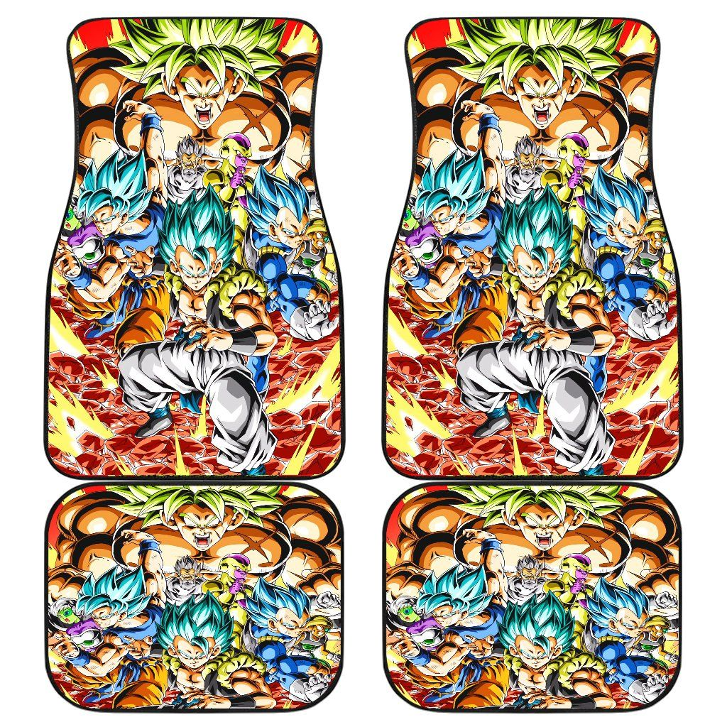 Dragon Ball Super Broly 2019 Front And Back Car Mats Car Mats Car Floor Mats Dragon Ball Super