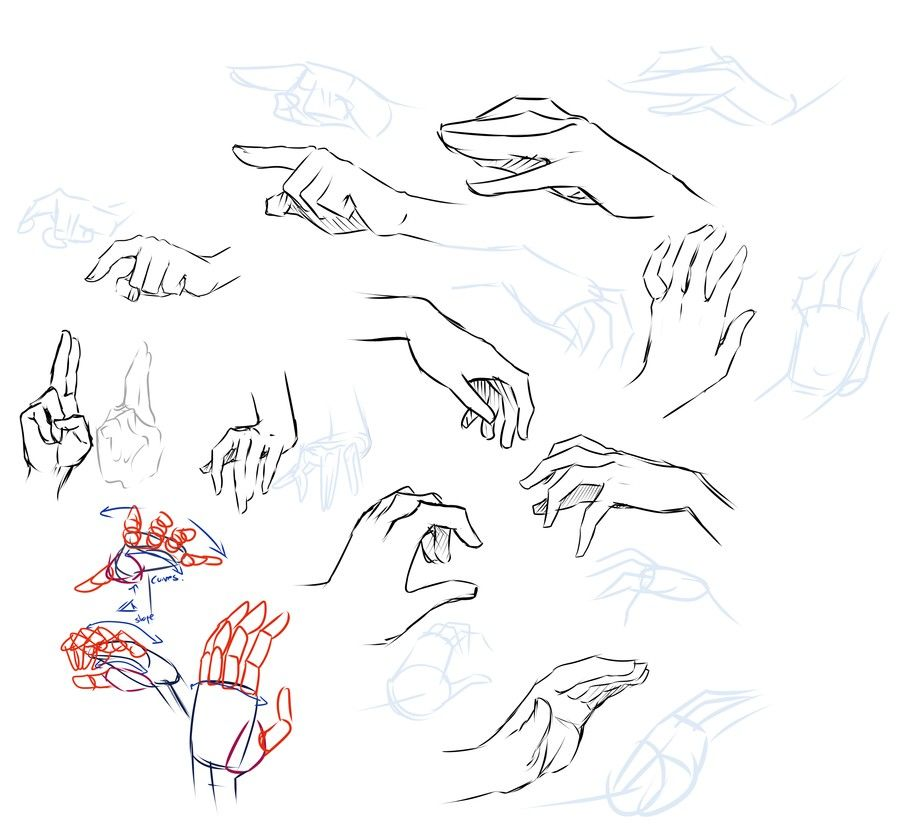 Drawing Scribble Technique : Hand gestures drawing techniques anime manga