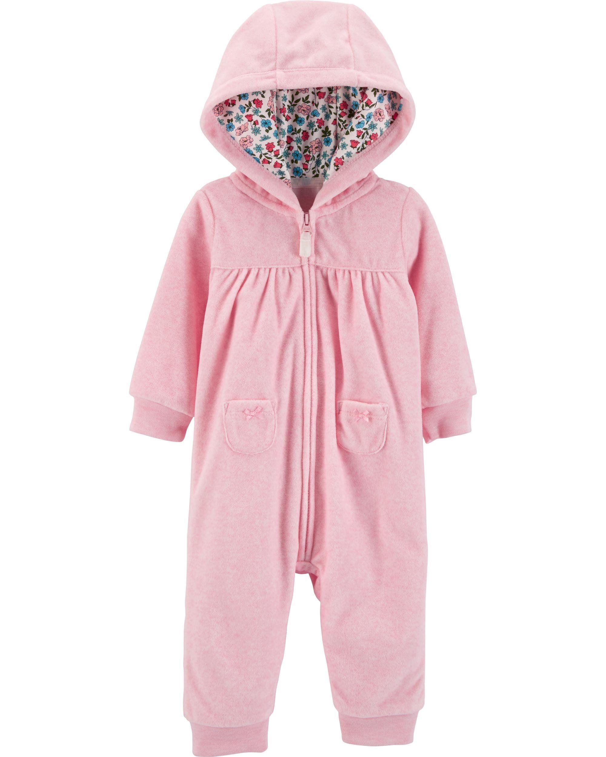 bd8c2230f37c Bear Hooded Fleece Jumpsuit