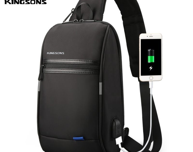 90c08a9c7b9d Discount This Month Kingsons Male Chest Bag Men s Crossbody Bag Small For  Men Single Shoulder Strap Back pack Casual Travel Bags  phone  computer