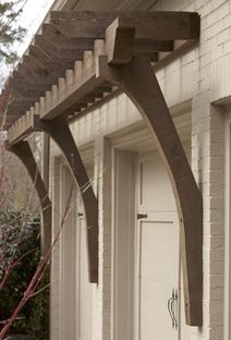 Arbor Over Garage With Support Brackets Starting About