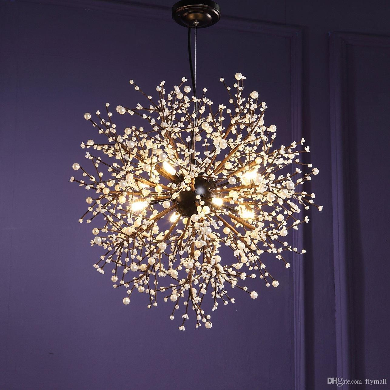 Modern Chandeliers Firework Led Vintage Wrought Iron Chandelier