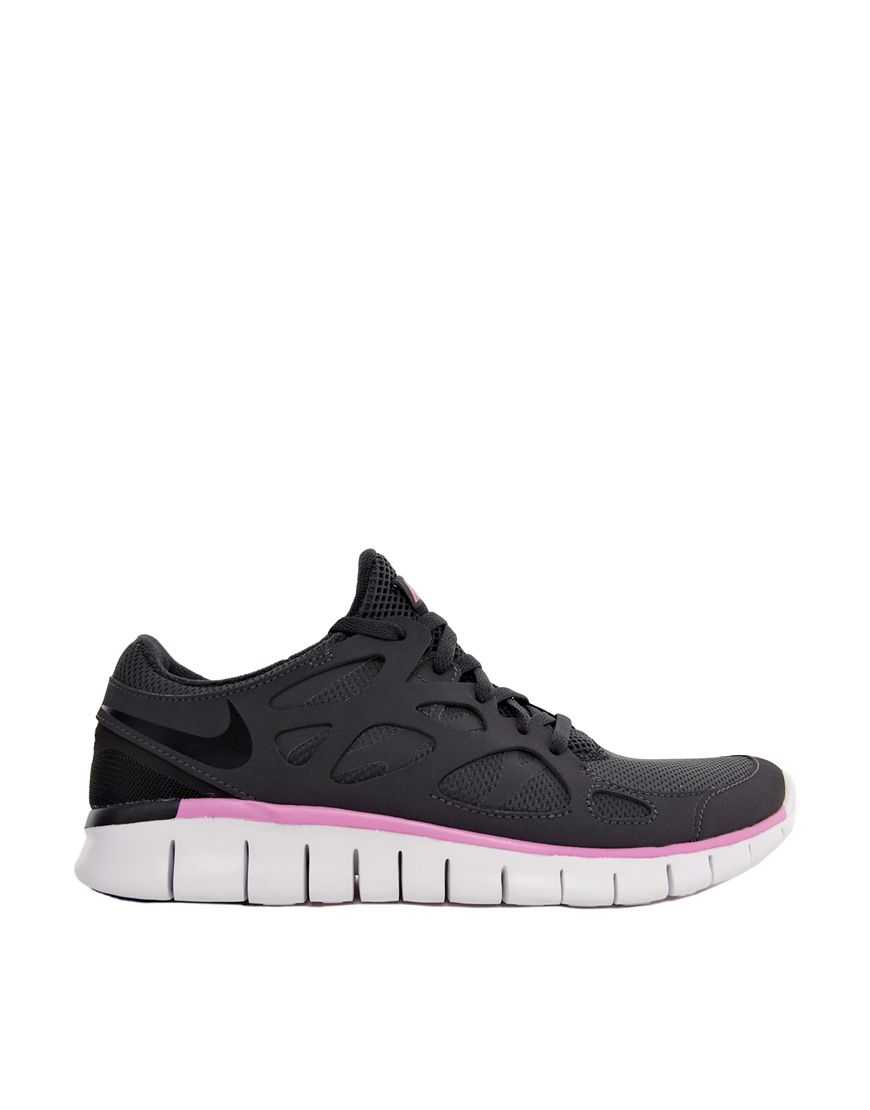 nike free run 2 ext black/pink trainers on biggest