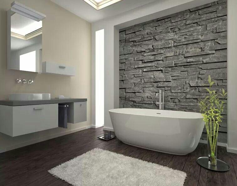 Pin By Mache On Kitchen Idea Modern Bathroom Remodel Bathroom Feature Wall Modern Bathrooms Interior
