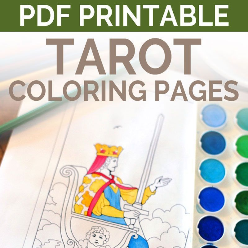 Enjoy Learning Tarot With This Tarot Card Coloring Book From Learn