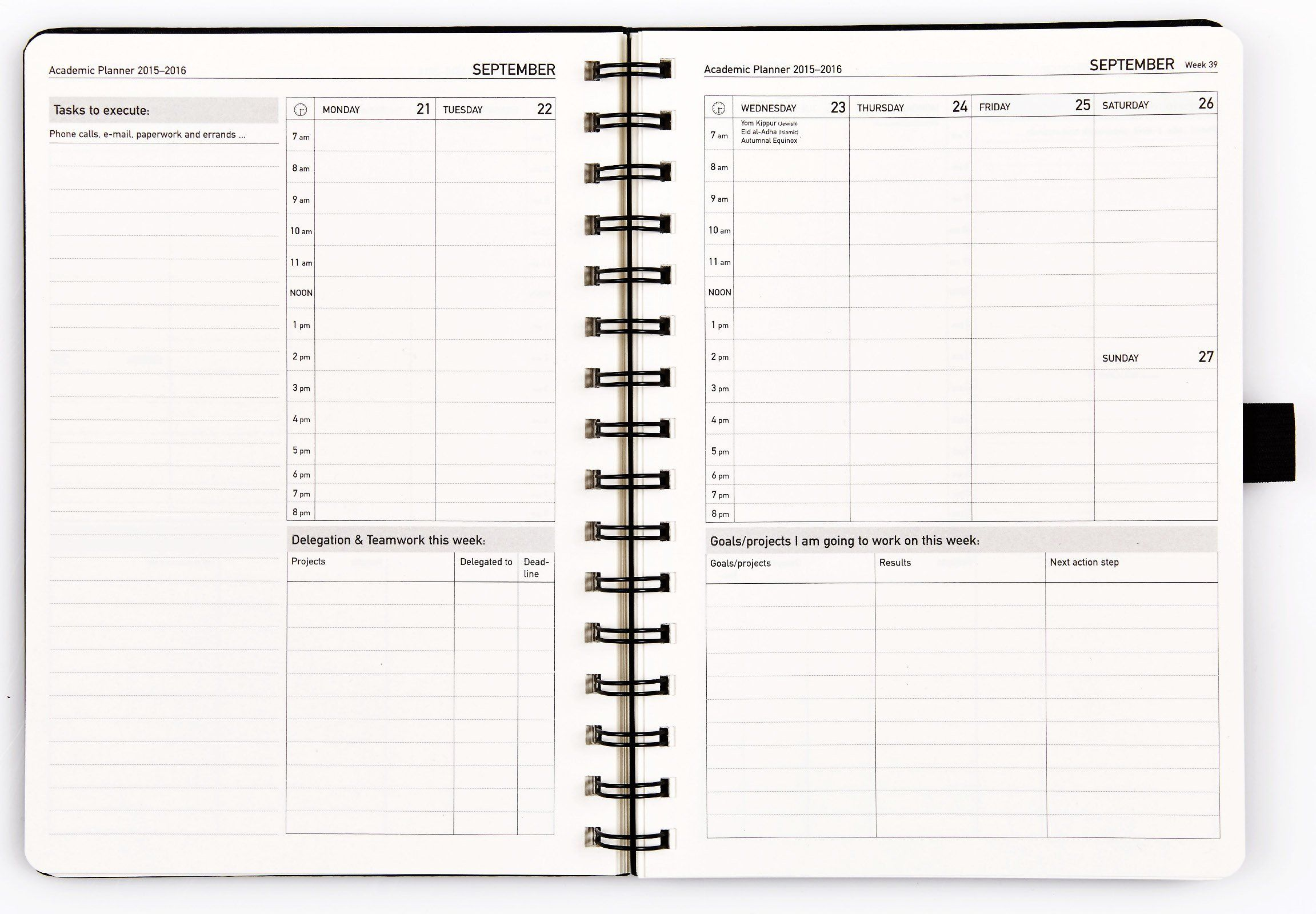 Action Day Academic Weekly Planner 2015-16 - Wochenplaner - 20x15 cm ...