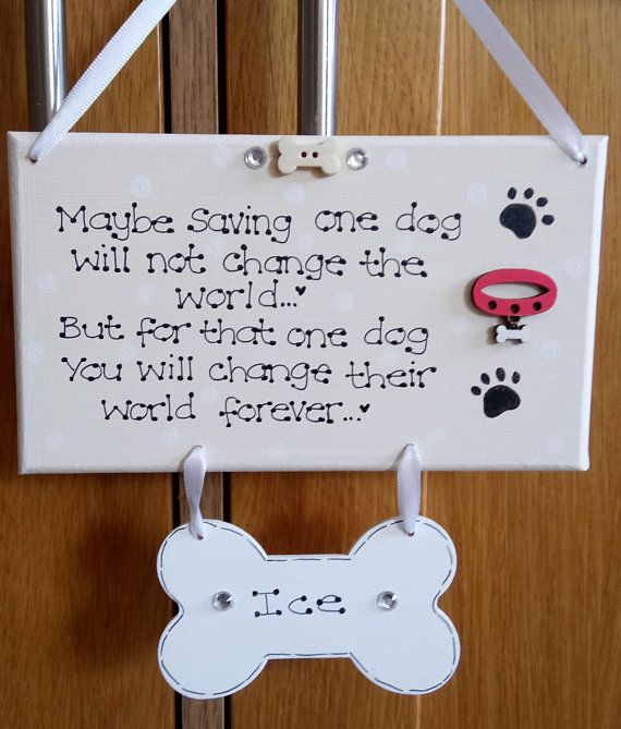 Personalised Rescue Dogs New Rehomed Pet Plaque, Pet Gift