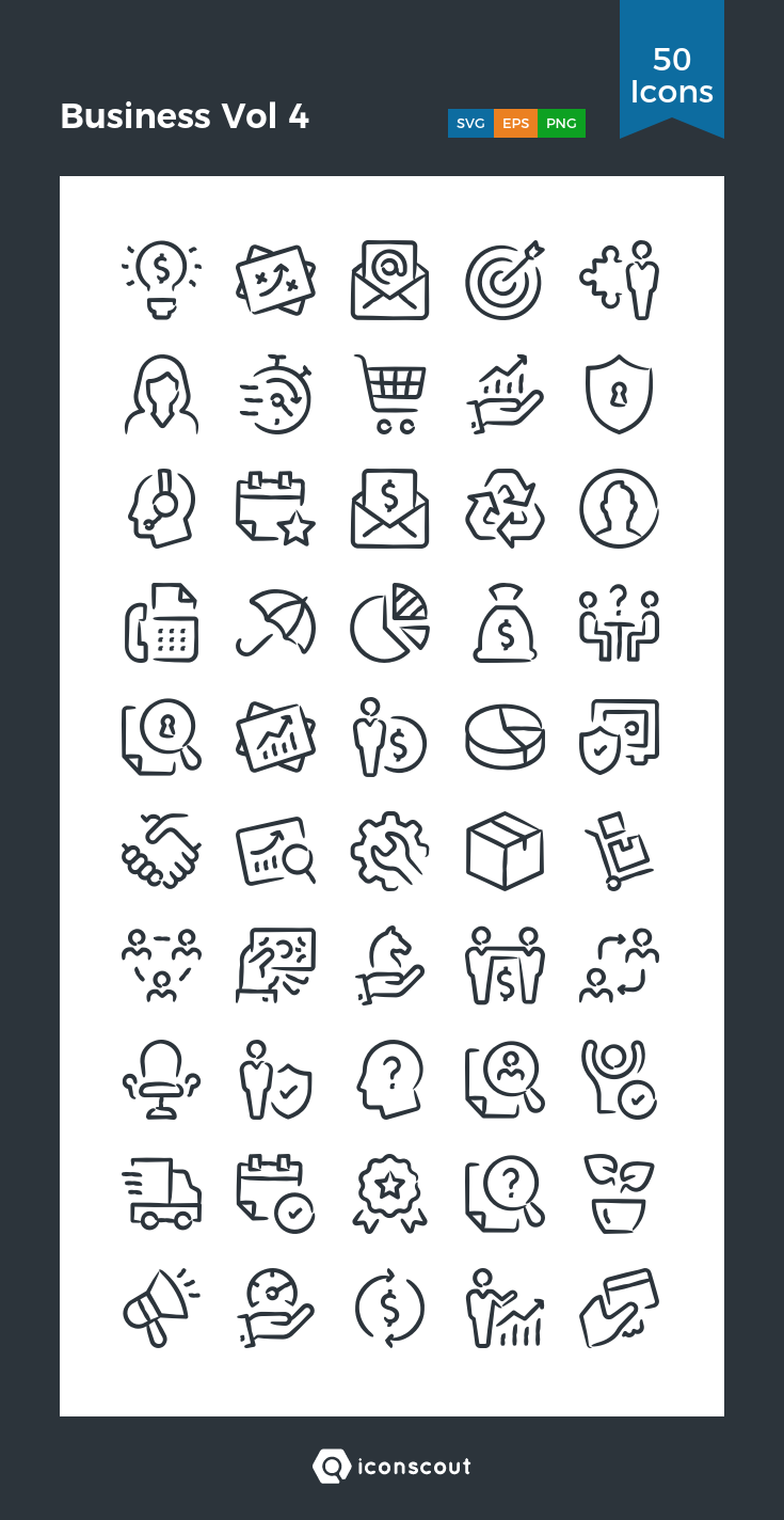 Download Business Vol 4 Icon Pack Available In Svg Png Eps Ai Icon Fonts Icon Pack Icon Icon Font