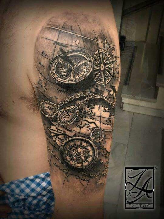 Pin By Johnny Lopez On Map Tattoos Tatouage Tatouage Carte