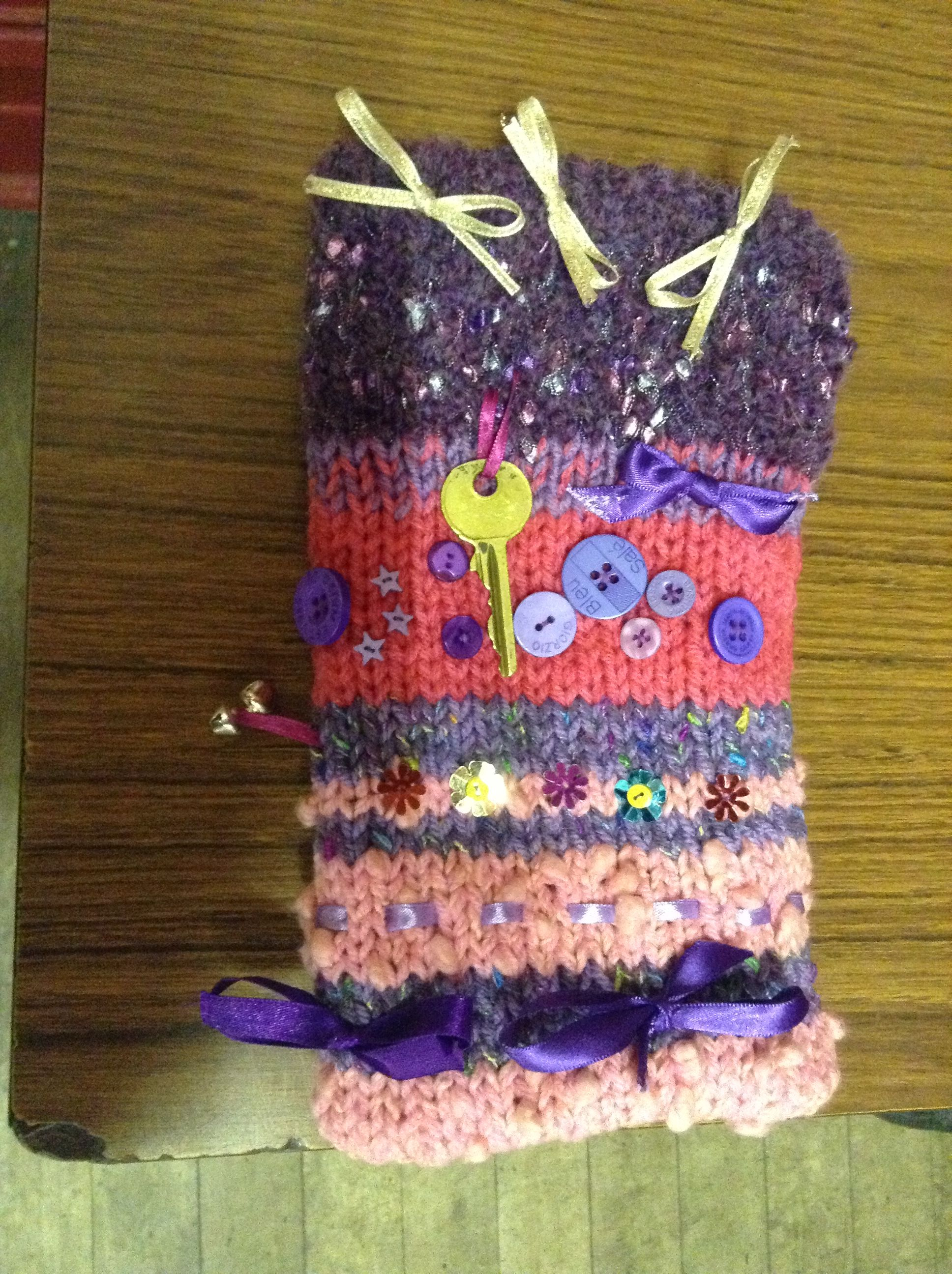 Knitted twiddle muff for dementia patient | Crochet ideas ...