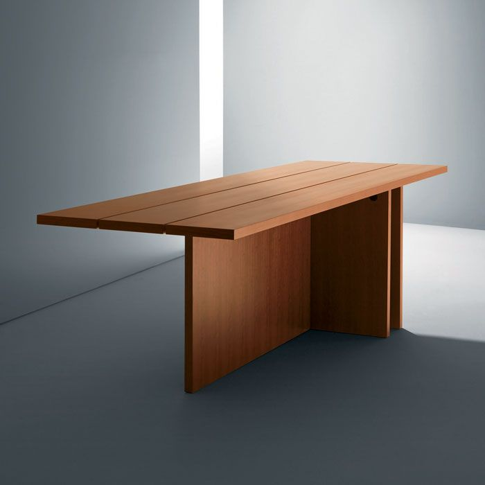 Cherry wood table by john pawson for driade products for Minimal table design