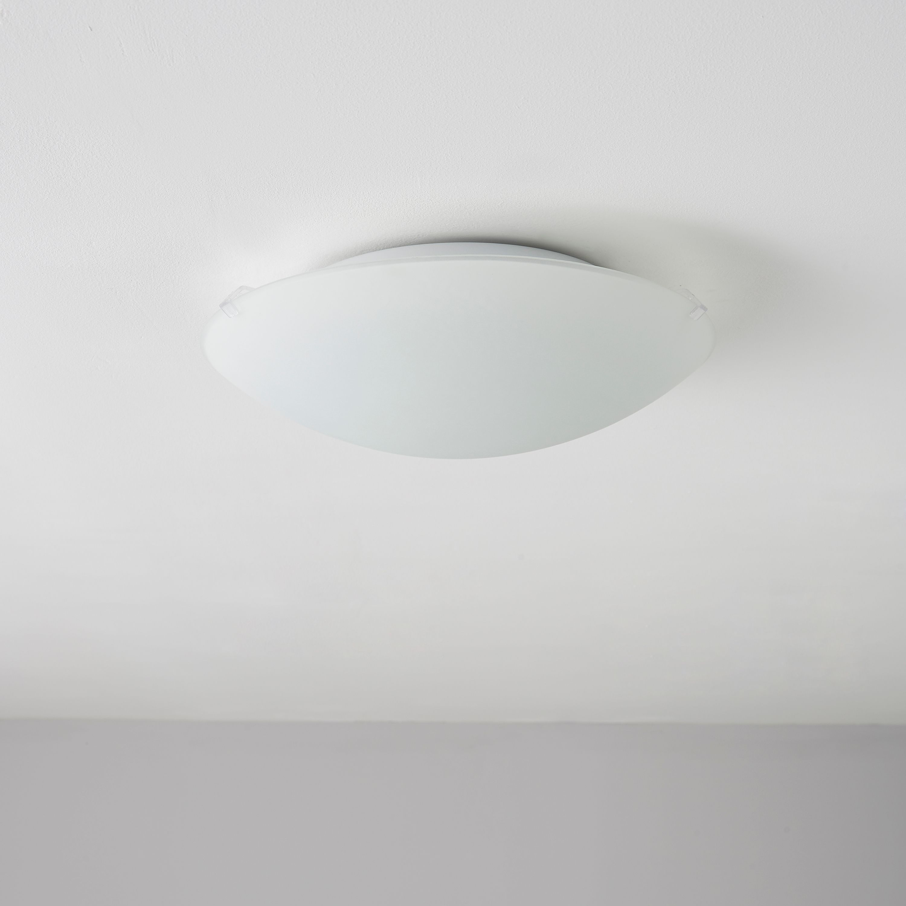 Hudson Frosted Ceiling Light Departments Diy At B Q Ceiling Lights Light B Q