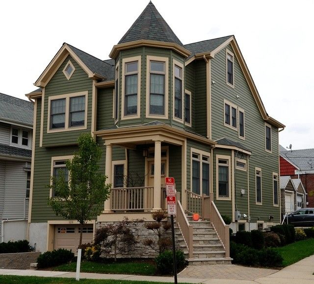 Victorian home exterior colorscape cod home transformed for Victorian style modular homes