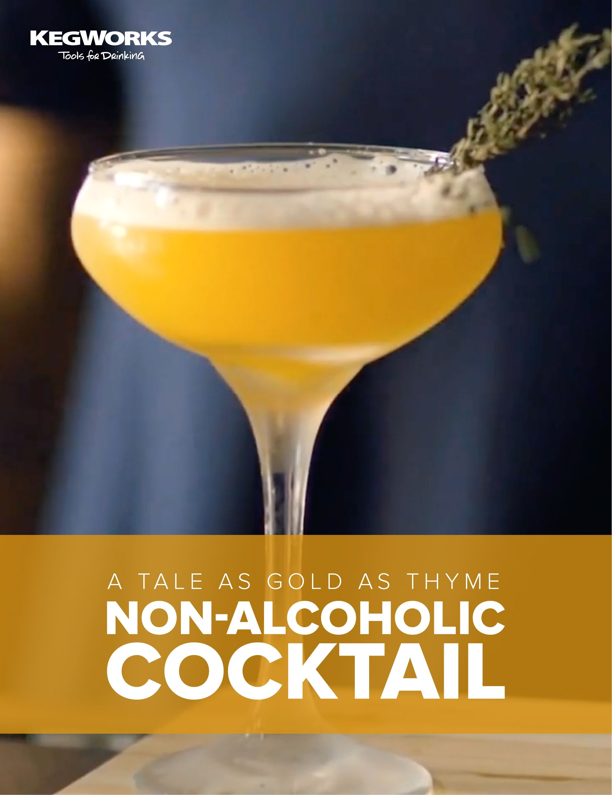 A tale as gold as thyme nonalcoholic cocktail recipe