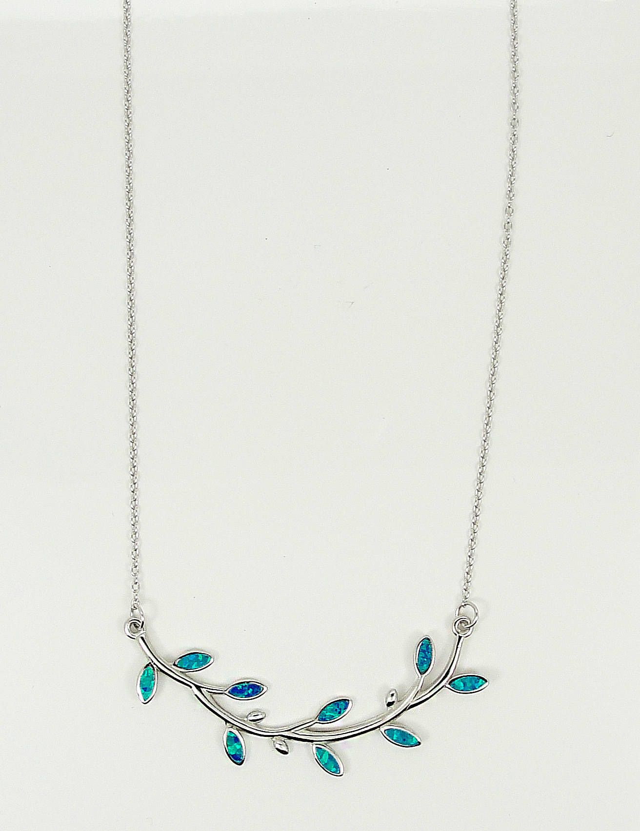 branch terzza necklace silver recycled olive elizabeth