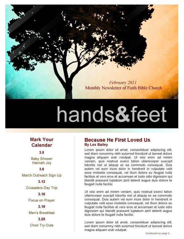 Spiritual Growth Church Newsletter Template Newsletter - Church - church newsletter